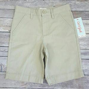 Cat & Jack Boys Chino Shorts Tan School Uniform